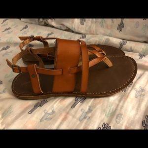 Size 9 natural color sandals